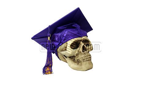 Skull mortarboard