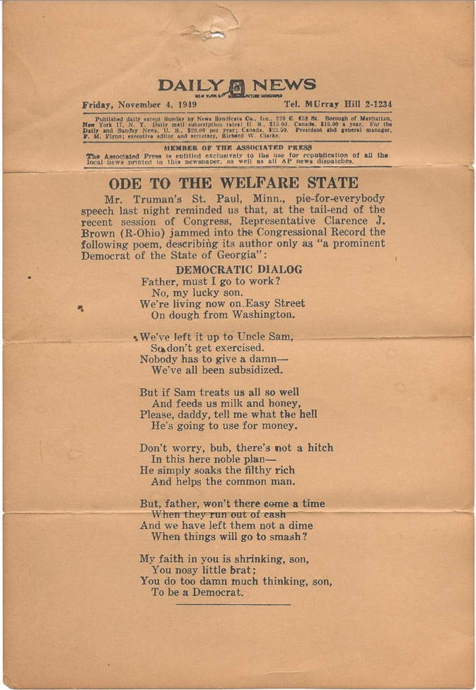 Ode welfare state