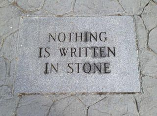Nothing in Stone