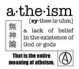 Atheism as lack