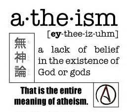Atheism as lack