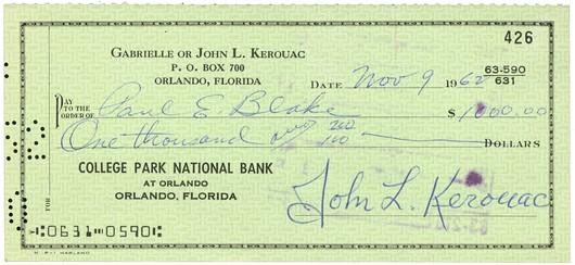 Kerouac check