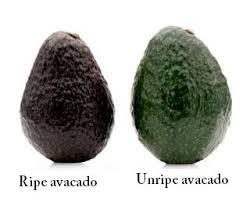 Avocado ripe unripe