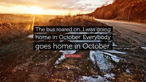 Kerouac home in October