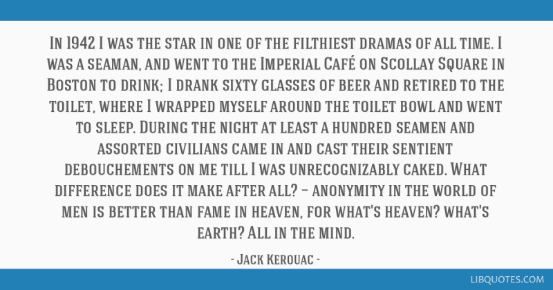Kerouac in Scollay Square