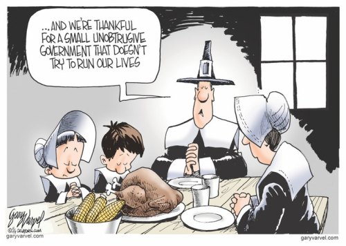 Thankful for limited gov't