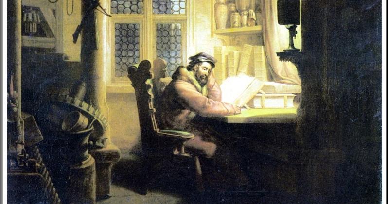 Faust im Studierzimmer  Kersting