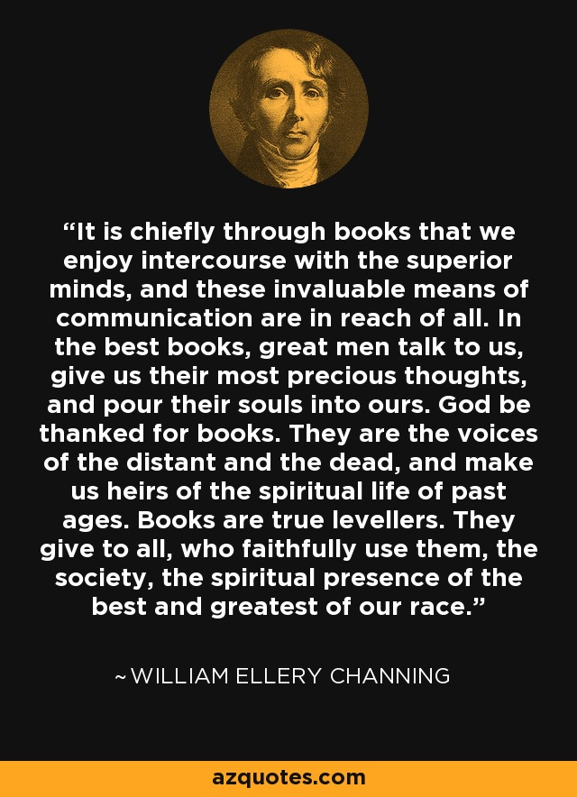 Channing on Books