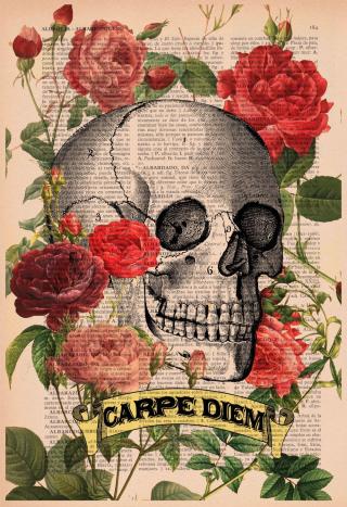 Carpe diem skull