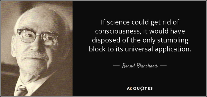 Blanshard consciousness