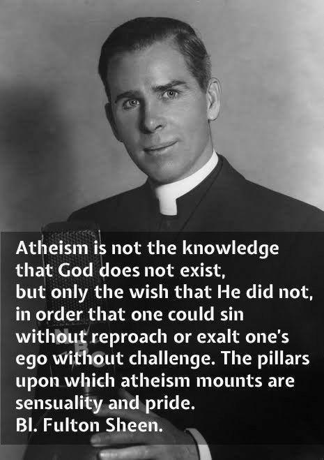 Fulton Sheen on atheism